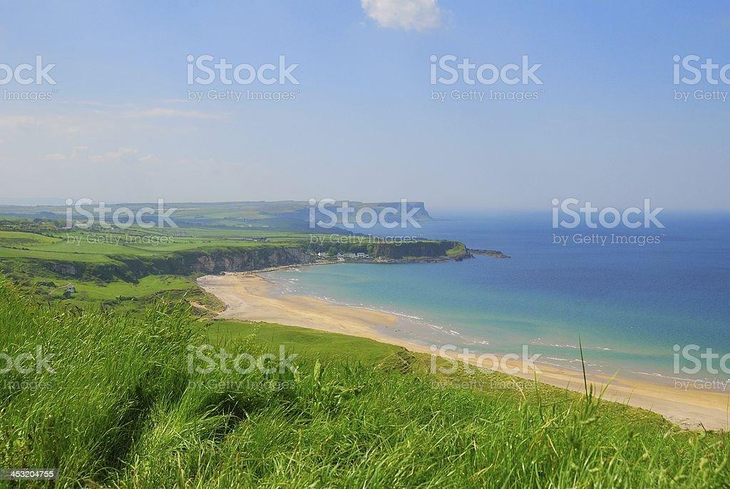 Photograph of the coastline of Northern Ireland, County Antrim.