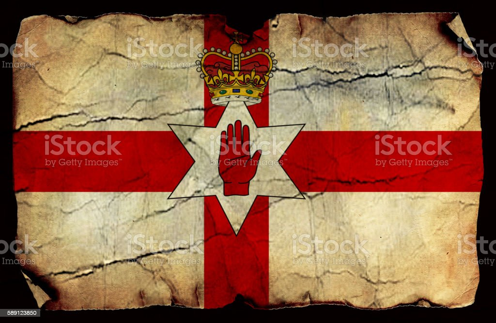 Northern Ireland  old flag stock photo