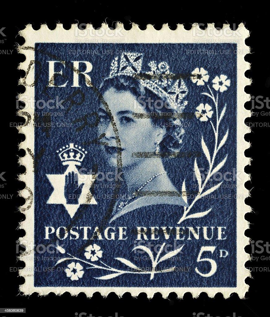Northern Ireland Postage Stamp royalty-free stock photo