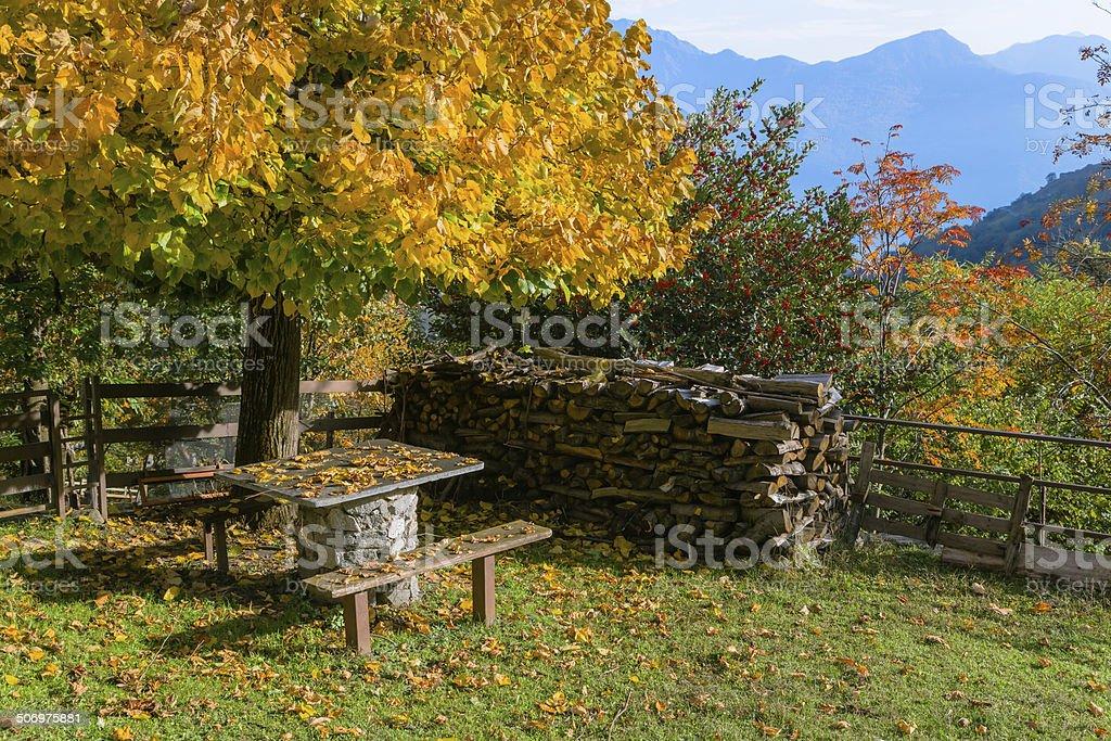 Northern Italian Village stock photo