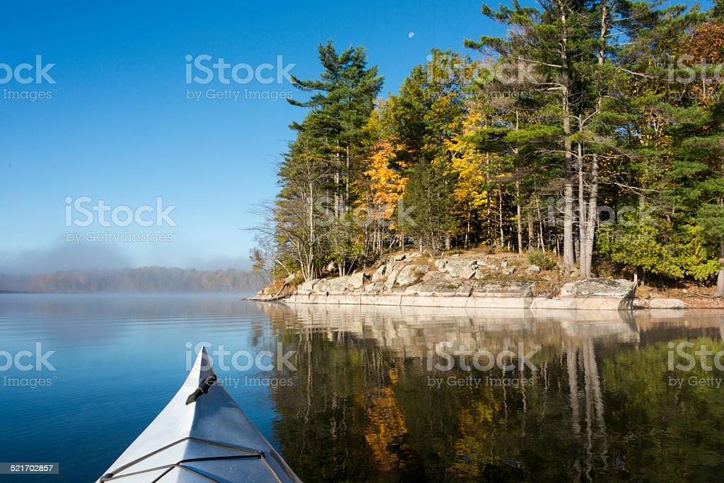 Northern Lake in October stock photo