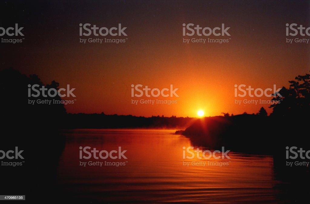 northern lake stock photo
