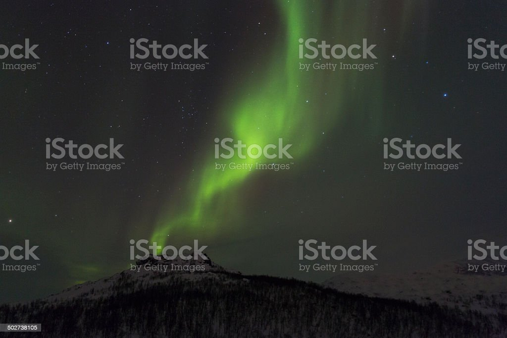 Northern light, Aurora borealis, stock photo