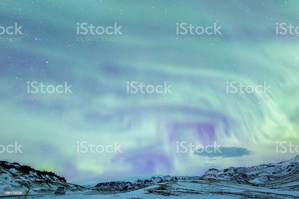 Northern Light Aurora Iceland stock photo