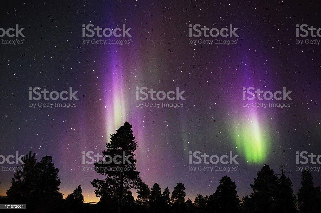 Northern Lights, Aurora Borealis royalty-free stock photo