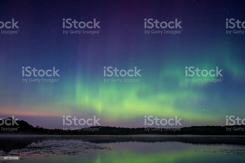 Northern Lights, Aurora Borealis stock photo