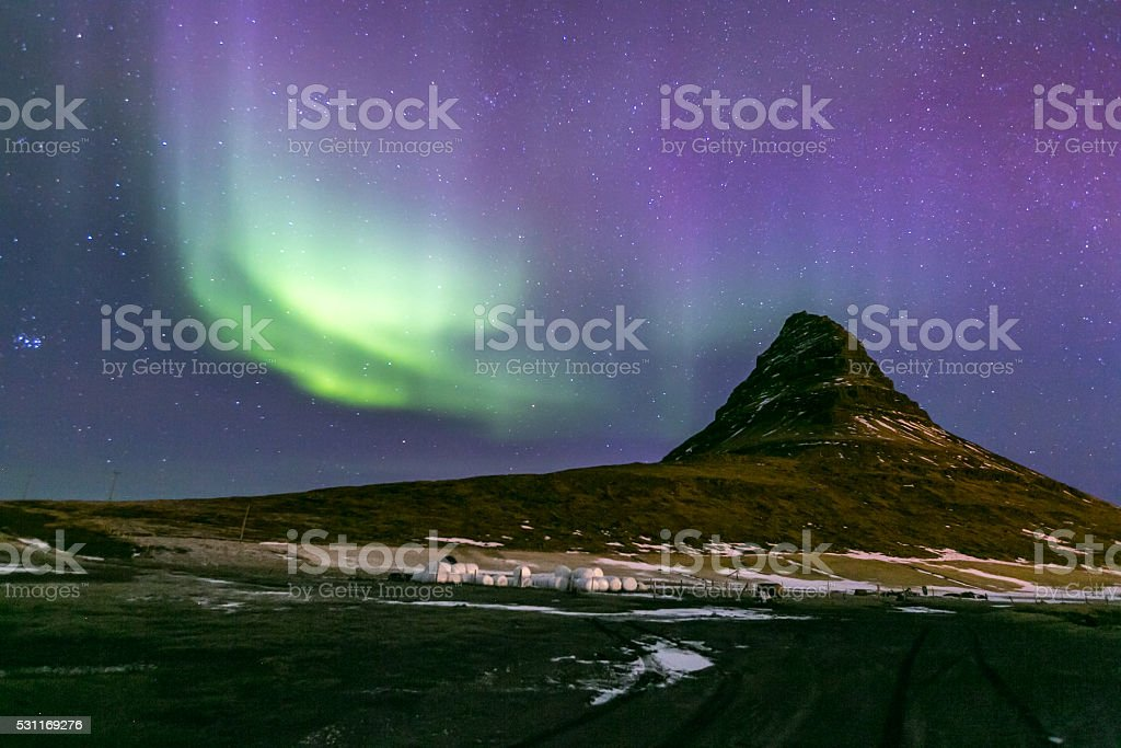 Northern Lights Aurora  Iceland stock photo