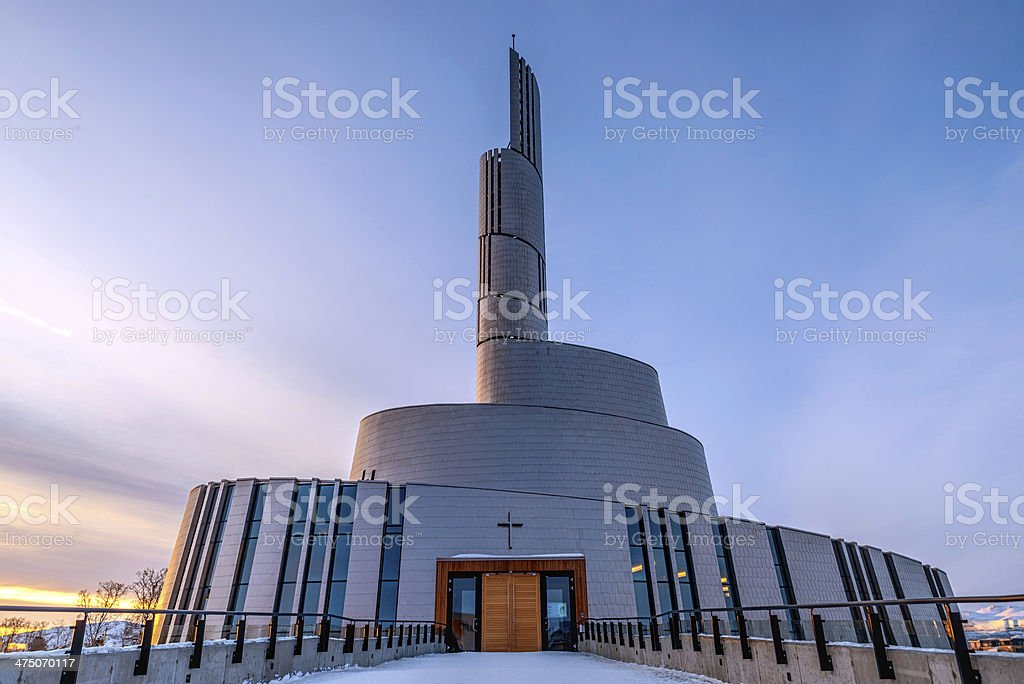 Northern Lights Catherdral stock photo