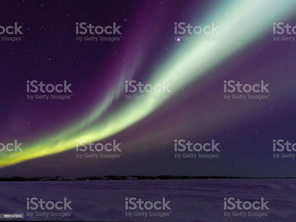 Northern Lights Dancing Across Canadian Skies stock photo