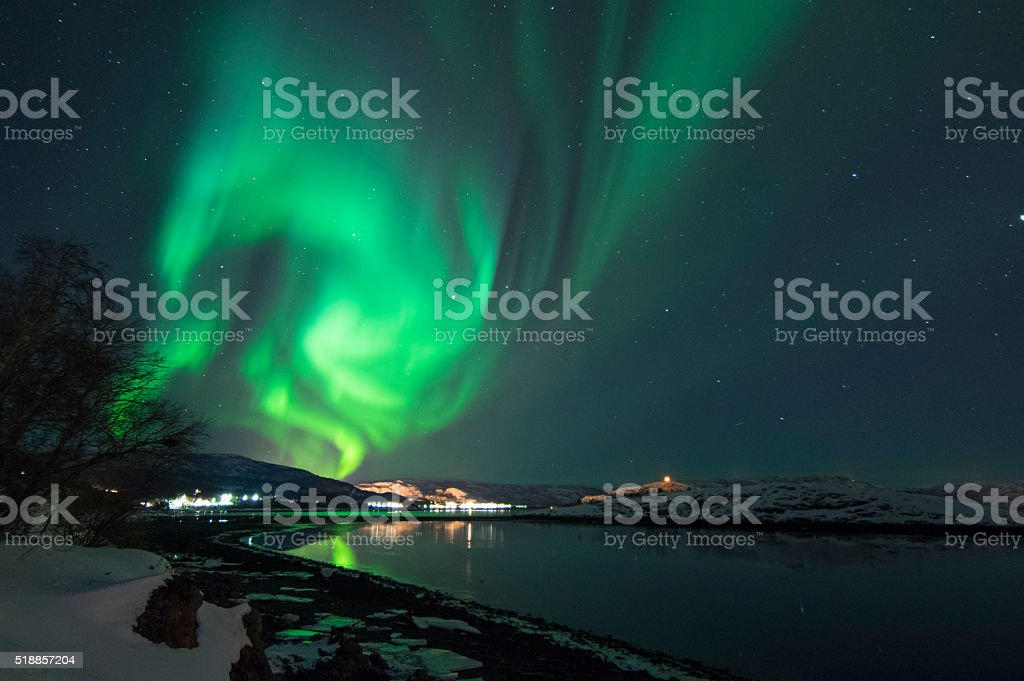 Northern Lights in Alta, Norway stock photo