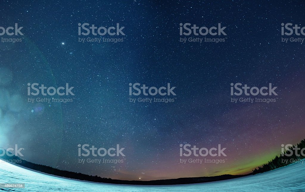 Northern Lights in the Distance stock photo