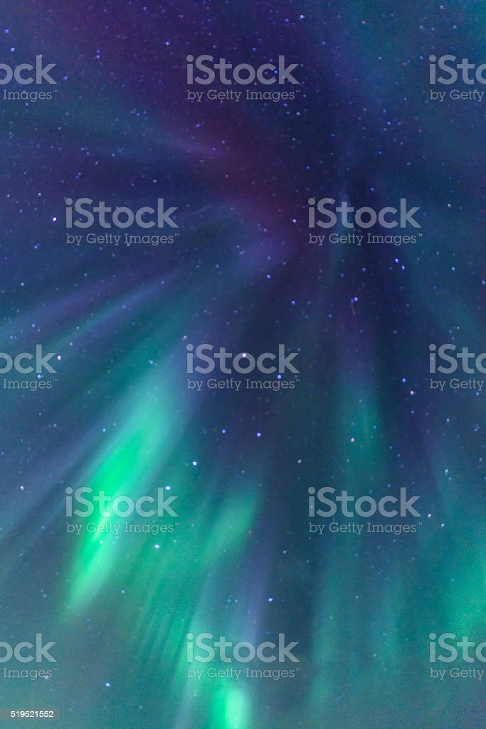 Northern Lights in the night sky stock photo