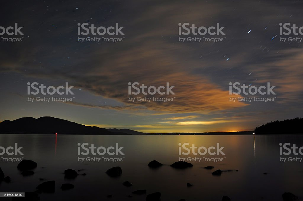 Northern Lights in the Sans Juan's royalty-free stock photo