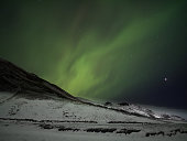Northern Lights in the Winter of Iceland