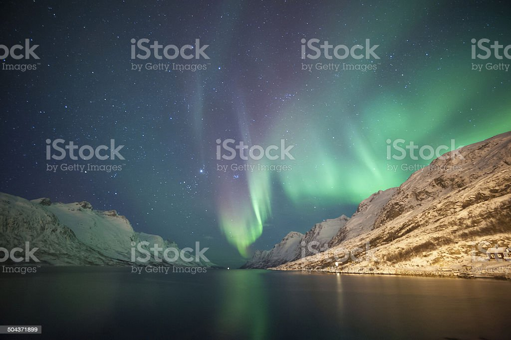 Northern lights, Norway stock photo