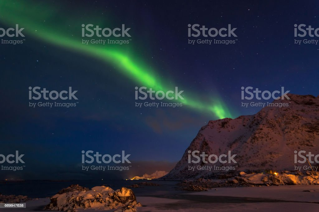 Northern Lights of Lofoten stok fotoğrafı