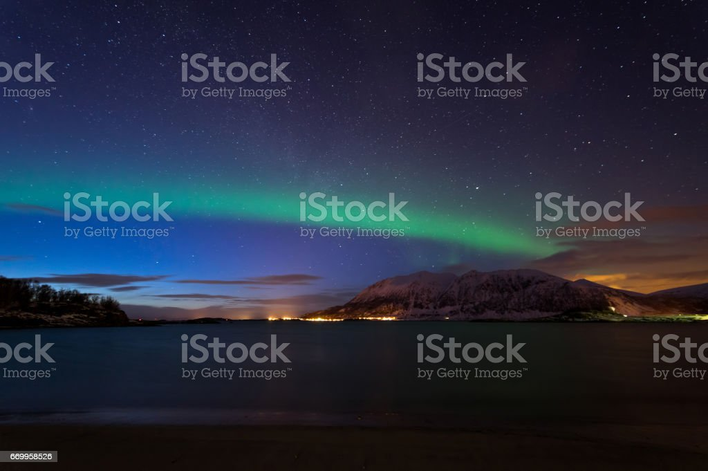 Northern Lights of Norway stock photo
