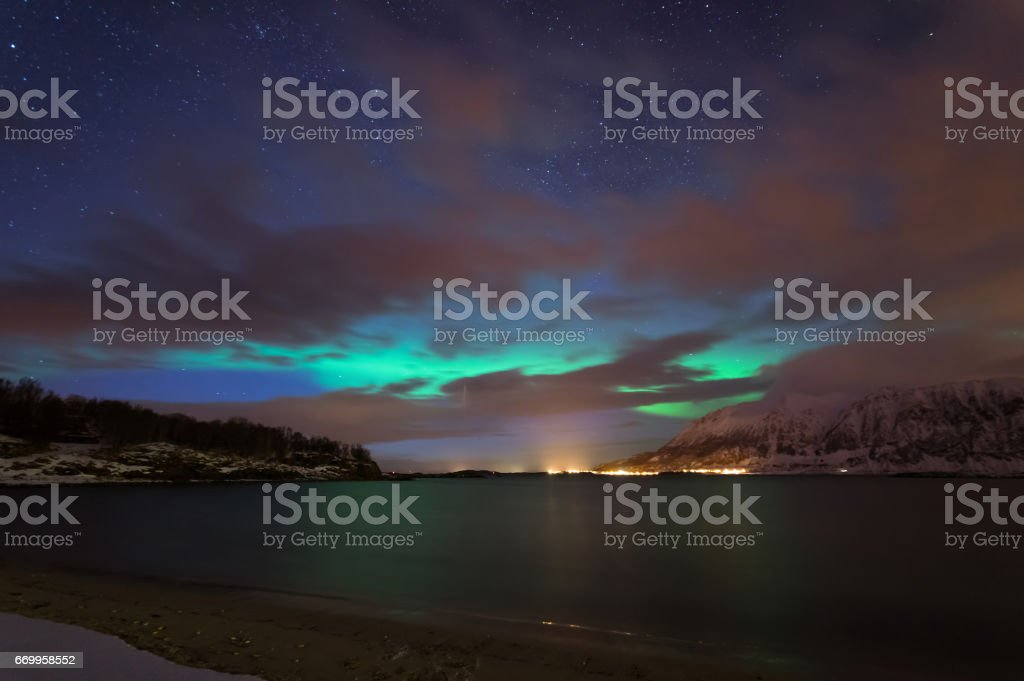 Northern Lights of Norway stok fotoğrafı