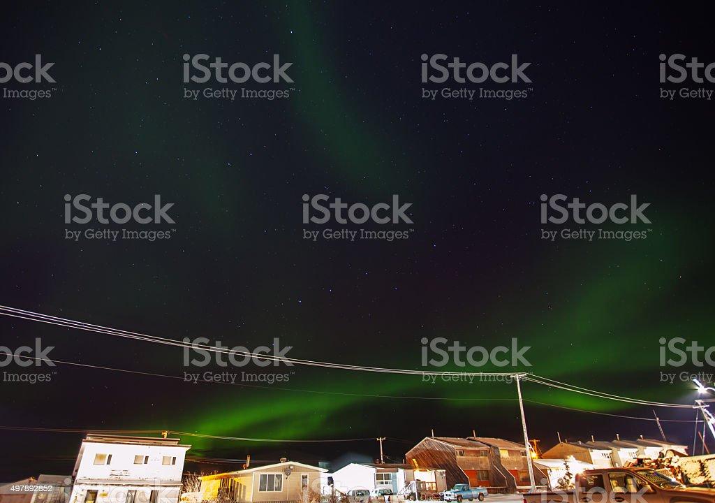 Northern Lights Over Churchill stock photo