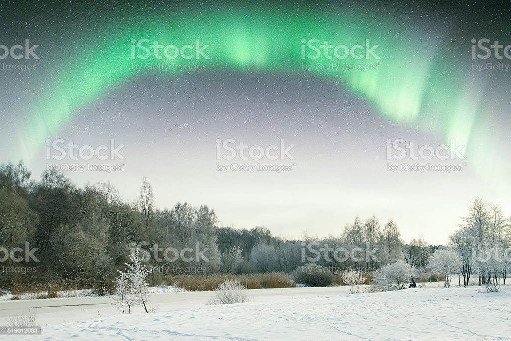 Northern Lights. stock photo