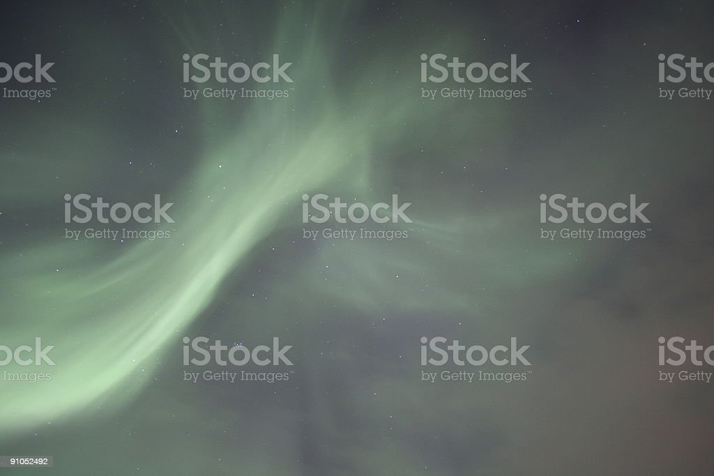 Northern lights stock photo