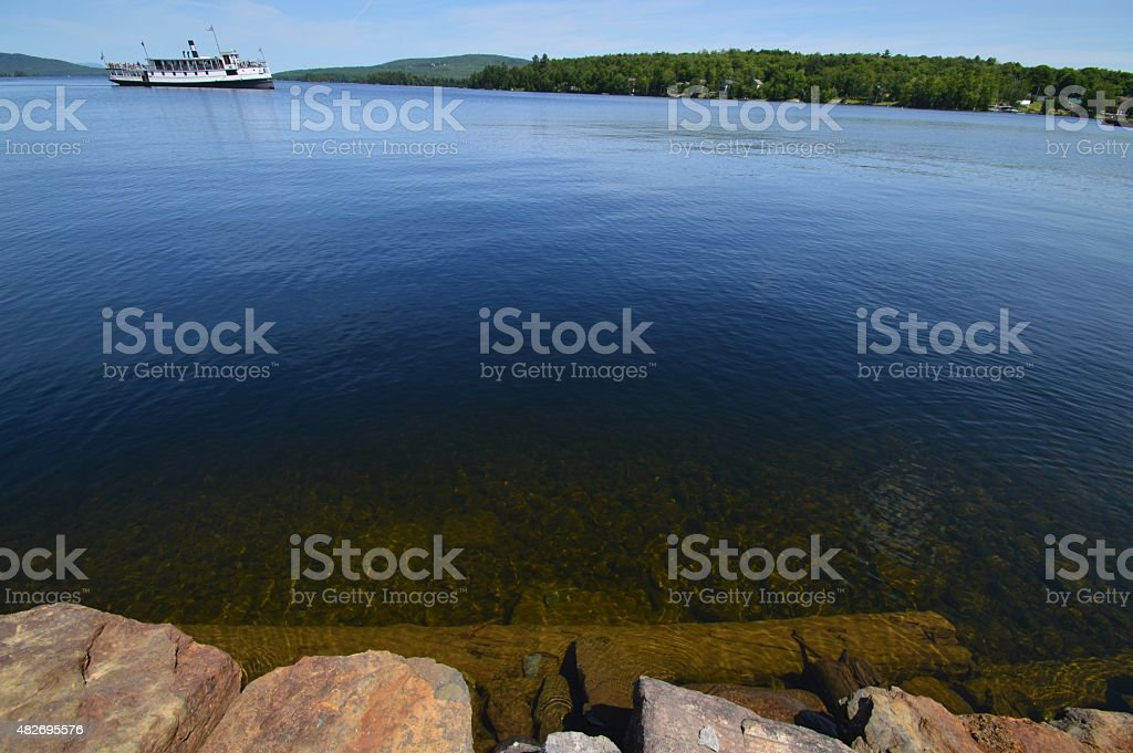 Northern Maine Clearwater Cruise Ship stock photo