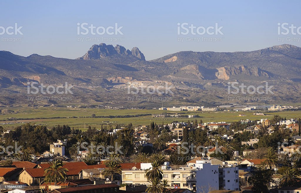 Northern Nicosia panorama stock photo