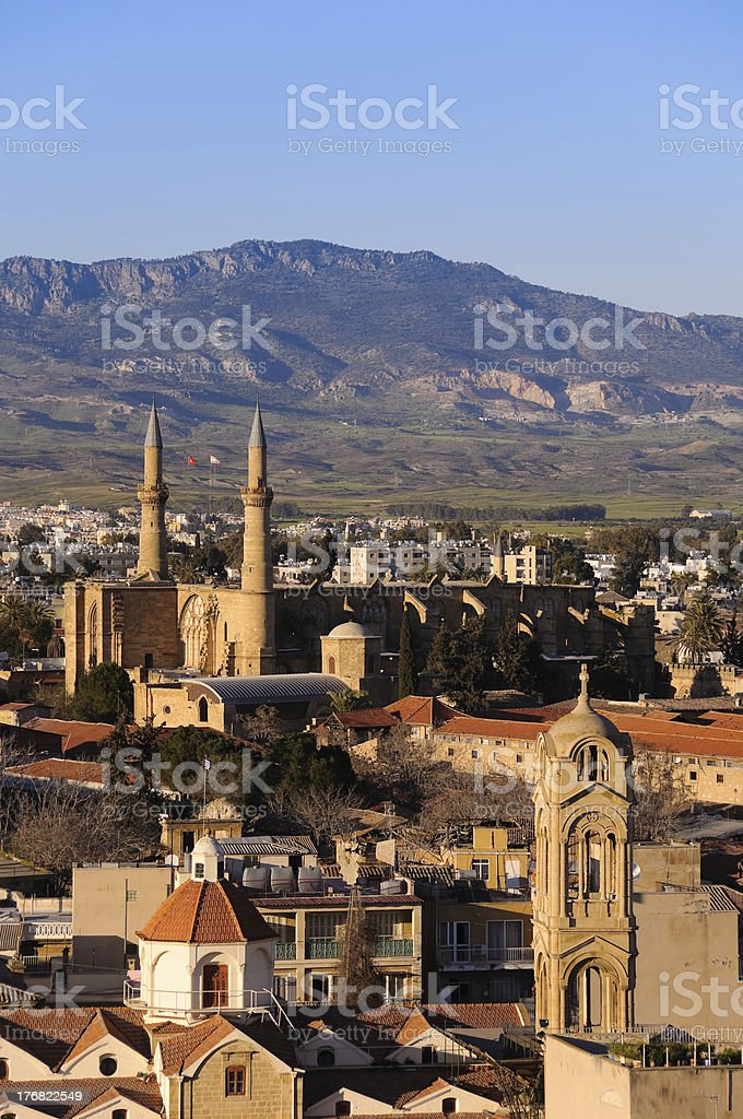 Northern Nicosia postcard stock photo