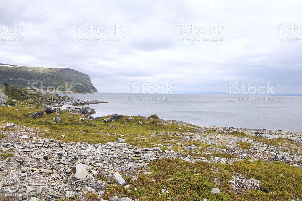 Northern Norwegian landscape royalty-free stock photo