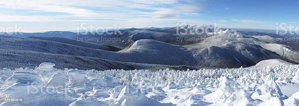 Northern Pemigewasset Rim in the Winter (Pano) stock photo