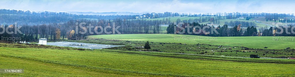 Northern Pennsylvania Valley and Marcellus Gas Well stock photo