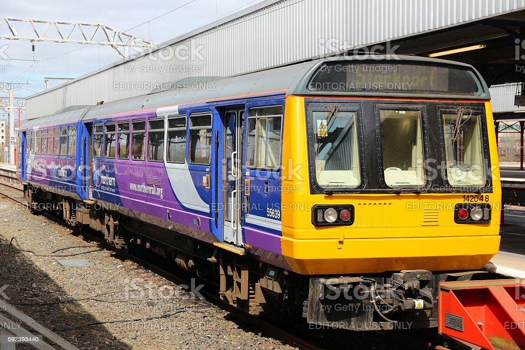 Northern Rail train stock photo
