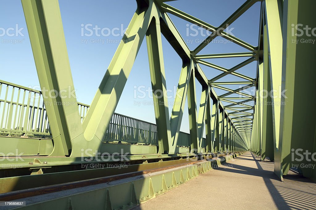 Northern Railway Bridge in Budapest royalty-free stock photo