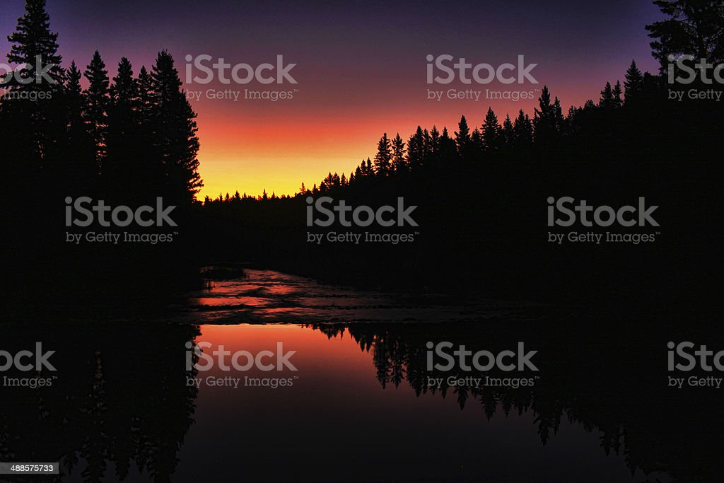 Northern River and Reflections stock photo