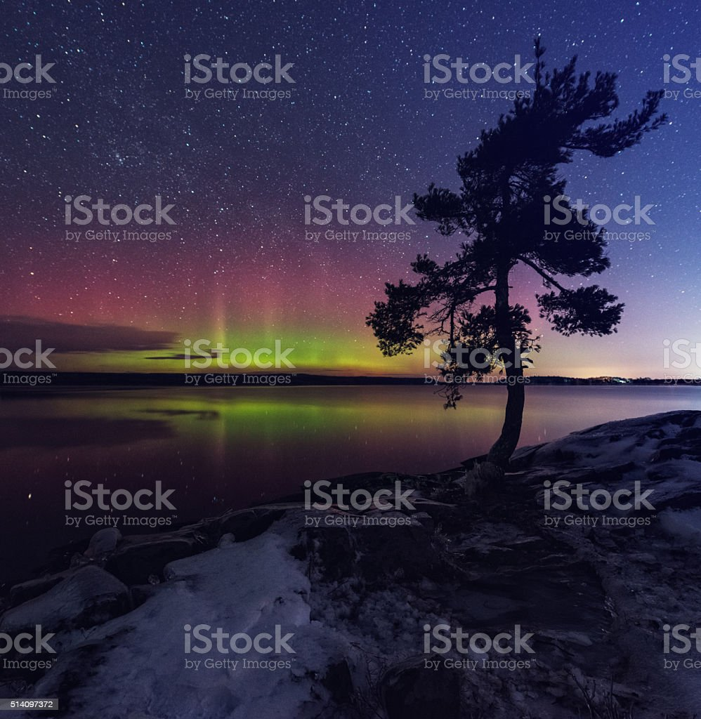 Northern Shimmer stock photo