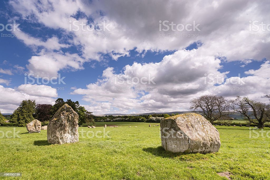 Northern side of stone circle stock photo