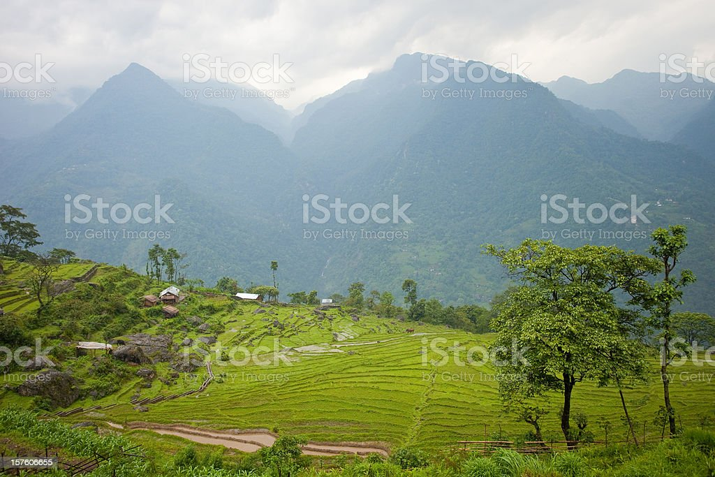Northern Sikkim, India Landscape stock photo
