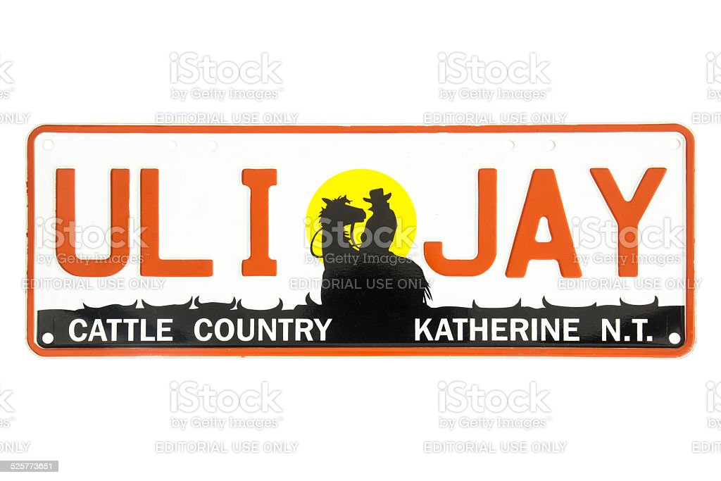 Northern Territory Cattle Country Number Plate stock photo