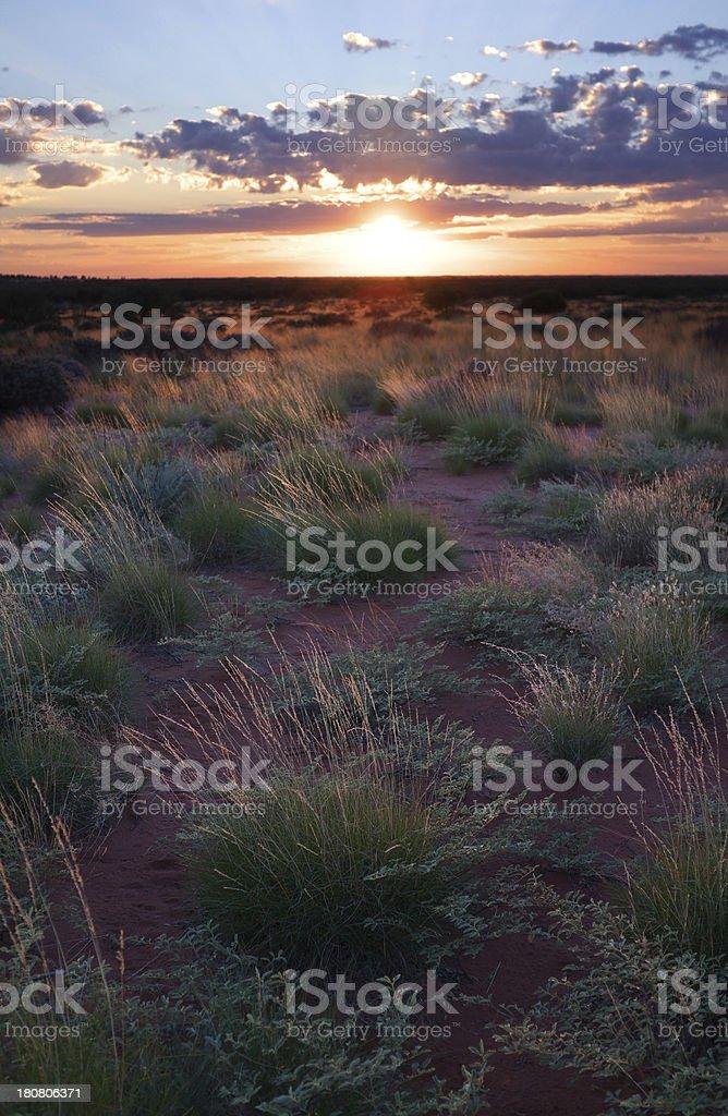 Northern Territory Dawn stock photo