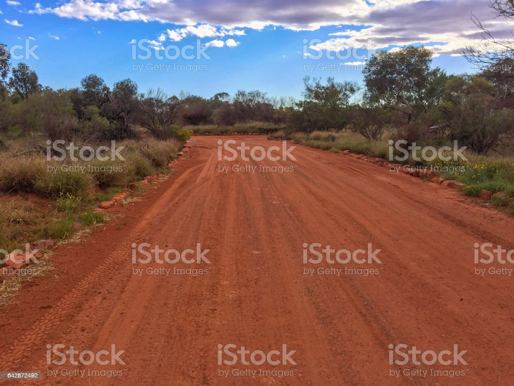 Northern Territory desert landscape view Australia stock photo