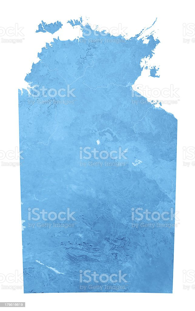 Northern Territory Topographic Map Isolated stock photo