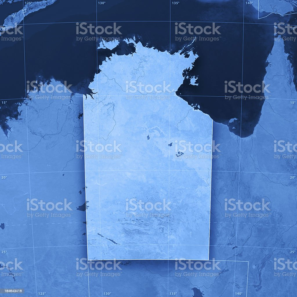 Northern Territory Topographic Map stock photo