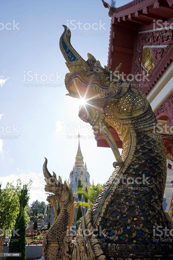 Northern Thai mythical serpent (Naga) in Doi Mae Salong, Thailand. royalty-free stock photo