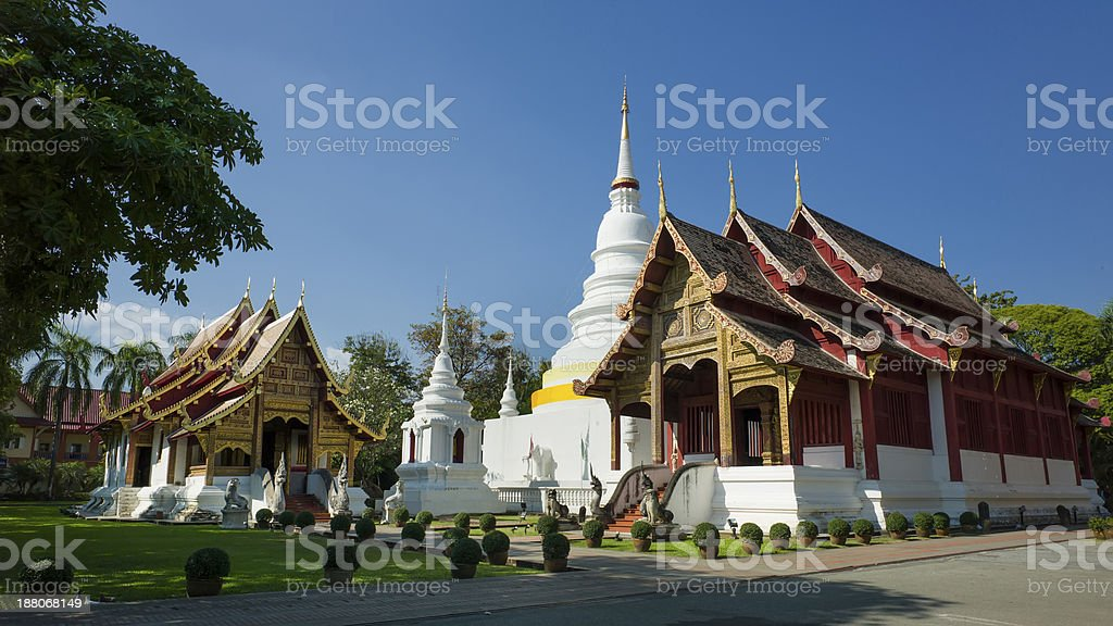 Northern Thailand Temple. stock photo