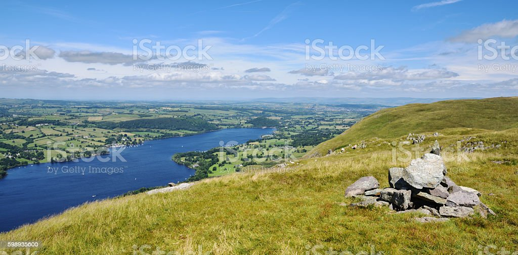 Northern Ullswater from Bonscale Pike stock photo