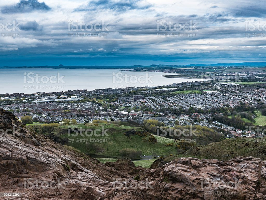 Northern View from Arthur's Seat stock photo
