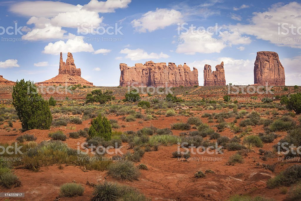 Northern View of Monument Valley royalty-free stock photo