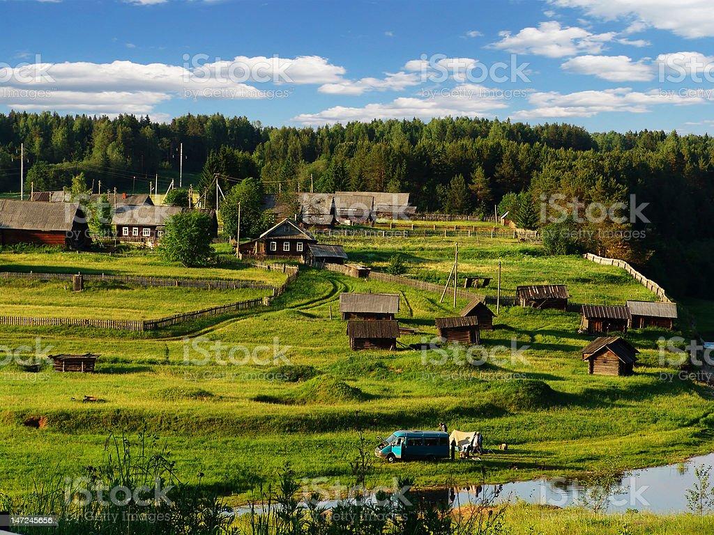 Northern village 2 royalty-free stock photo