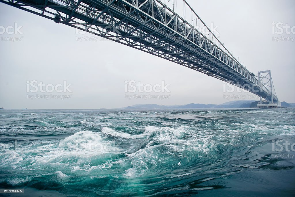 Northern vortex Seto Inland Sea / Tokushima stock photo