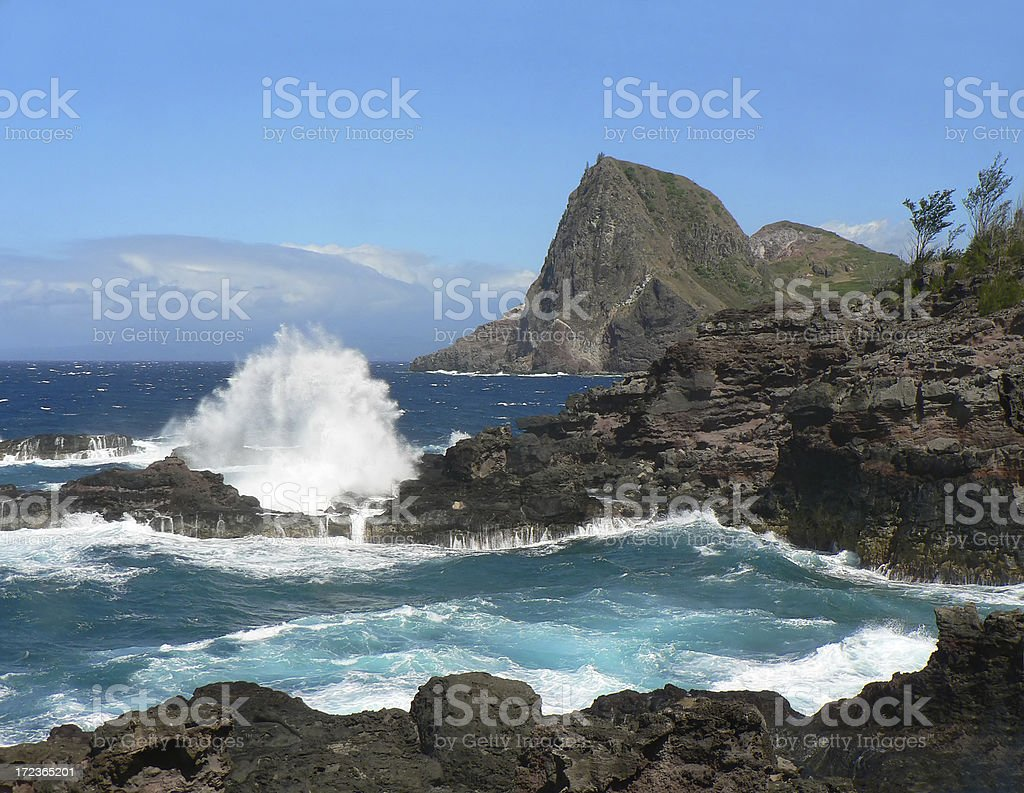 Northern West Maui Coast royalty-free stock photo